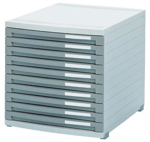HAN 1510-19, Schubladenbox CONTUR, Modernes Organisationssystem, Ausbaubar, Premium Qualität für die Professionelle Organisation mit 10 geschlossenen Schubladen, lichtgrau-dunkelgrau