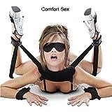 SM Bondage Set BDSM Fetisch SM Sexspielzeug Extreme Bett Fesseln mit Handschellen Augenmaske Bondage Kit für Einsteiger und Erfahr Paare Gays