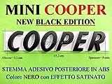 Mini Cooper Nero Black Edition S SD One JCW Clubman Stemma Badge Emblema Scritta Logo