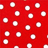 Roter Robert Kaufman Premium Laminat Stoff mit Polka Dots