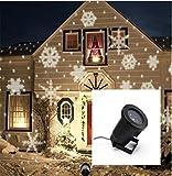KRISMILEN Outdoor proiezione LED colore, bianco fiocco di neve luci di Natale atmosfera lampada giardino giardino luci