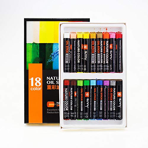 Öl Pastell -12/18/24 Farbe Kinder Pastellkreide Art Training Crayon 18 Farben