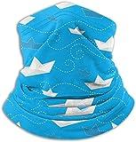 Scaldacollo Sciarpe Bandana Maschera per la faccia Navi di carta Protezione UV per Moto Ciclismo Equitazione Esecuzione di fasce calde