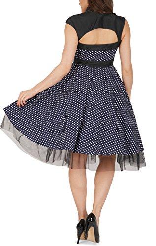 'Athena' Polka-Dots Kleid mit großer Schleife - 3