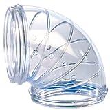 Zolux RodyLounge Set DE 2 Tubes Coudé Incolore Transparent pour Petit Animal