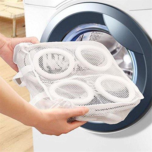 GOOTRADES 3 Stk Schuhe Maschenwäsche Waschbeutel plus 1 Freie Schuhe Trockengestell (Trockengestell Zufällige Farbe) - 4