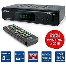 Decodificador TDT, grabador, reproductor multimedia TV, Peritel, HDMI, USB