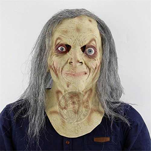 SQCOOL Halloween grau Scary Maske Perücke Scary Spuk Haus Vault Flucht Dress Up Live