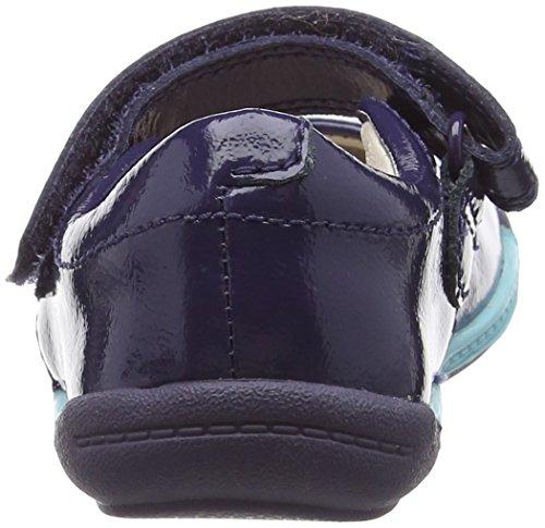 Clarks Kids Softly Jam Fst, Baskets premiers pas mixte bébé Bleu (Navy Patent)