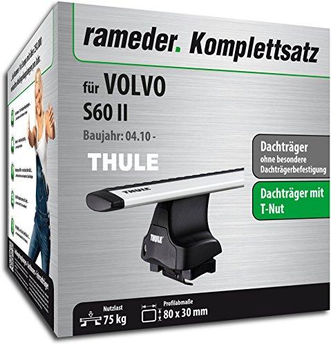 Rameder Komplettsatz, Dachträger WingBar für Volvo S60 II (114963-08616-1)