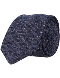 OTTO KERN Schmale Krawatte Clubkrawatte Navy Blau 6,5 cm