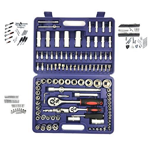 108pc clé à cliquet ensemble auto réparation auto entretien ménager matériel outils 108 pièce manchon ensemble,Blue