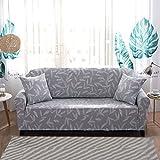 FORCHEER Sofabezug Elastischer Sofaüberwurf Blumen-Muster Sofa Cover Stretch Hussen für Sofa/Couch in Verschiedenen Größen( 3-sitzer, 190-230cm, Muster #18 )