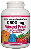 Natural Factors Vitamin C Mixed Fruit Chewables 500mg Wafers, 90-Count