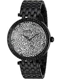 Caravelle Women's Quartz Stainless Steel Casual Watch, Color:Black (Model: 45L160)