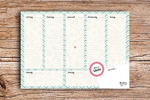 Wochenkalender DIN A5 Block Wochenplaner EinfachSchön