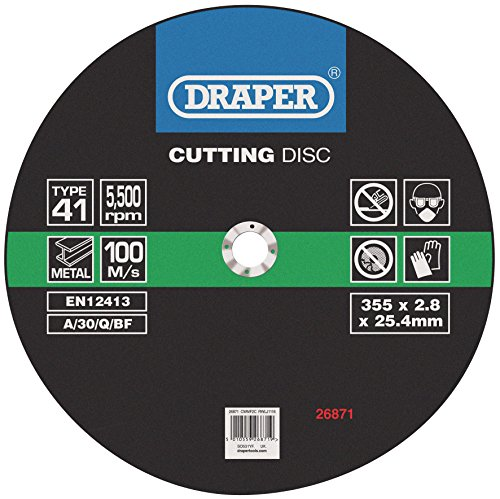 Draper 26871 cutting discs (355 x 2.8 x 25.4mm)