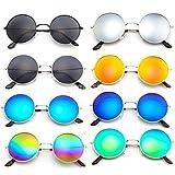 MagiDeal 8 Stücke Unisex Mode Sonnenbrillen, Spiegelbrillen für Outdoor-Aktivitäten