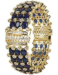 MUCH MORE Trendy Gold Tone Diamond Swarovski Elements Indian Bangles Traditional Partywear Jewelry