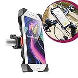 Mobilefox 360° Fahrrad Lenker Halterung Verstellbare Handy Lenkstange Halter Drehbar Smartphone Klemmhalterung für Sony Xperia Z3 Z3+ Z5 Compact