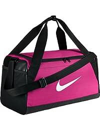 Nike Nk Brsla S Duff Bolsa de Deporte, Hombre, Rosa (Vivid Pink / Black / White), Talla Única