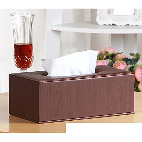 Página de inicio de caja del tejido cortical/Cajas de Kleenex/Sala caja servilleta mesa/Bandeja de coche creativo-N