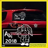 Abi Aufkleber Typ152 Autoaufkleber Abitur 2018