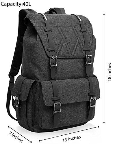 """MOCA Canvas 15.6"""" Black Laptop Backpack Image 2"""