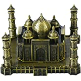 Metallic Home Decor Figurines - Small Taj Mahal Figurine | Office Desc Decoration Metal Show Pieces | Best Birthday & Anniversary Gift Items By DAISYLIFE (L X B X H : 8 Cm X 9.5 Cm X 7 Cm)