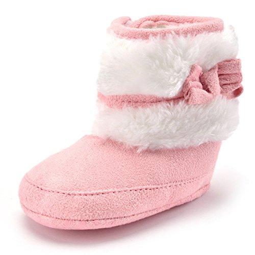 Minetom morbido ragazza cotone shoes bootie stivaletti bambini comodi eleganti infantile bambino 6-18 mesi cashmere inverno caldo stivali rosa 11cm