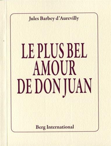 Le plus bel amour de Don Juan par Jules Barbey d'Aurevilly
