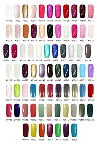 Choose any 2 of 73 Available CCO Colours plus receive a Top and Base Coat. Soak off UV Nail Gel Polish 7.3ml