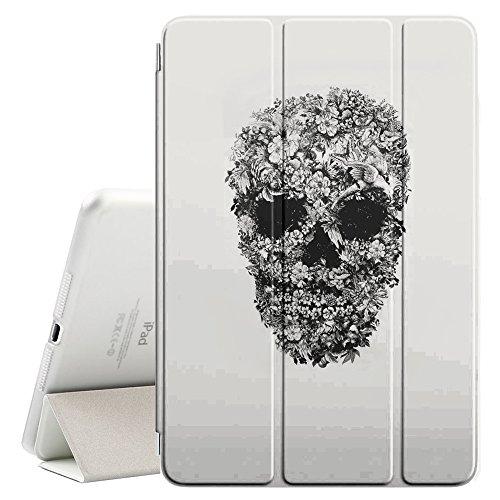 YOYOcovers [ FOR iPad Mini 2 / 3 / 4 ] Smart Cover con funzione del basamento di sonno - Rock Roll Metal Heavy Skull Biker Art
