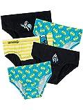 Batman - Pack de 5 sous-vêtements - DC Comics - Garçon - Multicolore - 7-8 Ans
