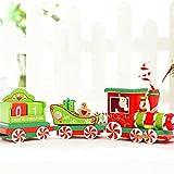 sunnymi Weihnachtskalender Kleiner Zug ✔ Adventskalender zum Befüllen DIY Holz Wiederverwendbar Befüllbar Weihnachten Modellauswahl ✔ Kalender Advent Countdown (Muti, 33.4x6.5x10cm)