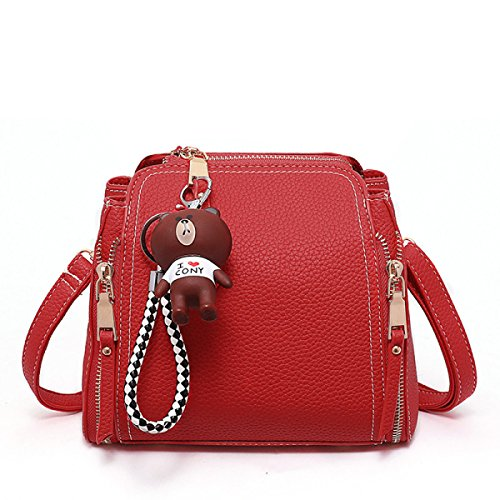 Fashion Messenger Beuteltasche Portable Student Mini Umhängetasche,Red