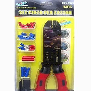 instalador juegos para pc: TEK® PINZAS PARA ENGASTAR 42 PCS FAST-TERMINALES PARA CABLES ON CRIMPATRICI ENCA...