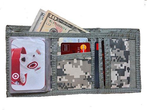 ProEquip Tri-Fold ACU Army Military Camouflage Wallet Bill Fold Klettverschluss oder Magic Wallet (Kostenlose Rückgabe), Camouflage