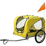 Flieks Fahrradanhänger Hundeanhänger Hunde Fahrrad Tier Anhänger mit Universalkupplung
