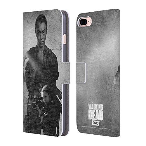 Ufficiale AMC The Walking Dead Carl Doppia Esposizione Cover a portafoglio in pelle per Apple iPhone 4 / 4S Sasha
