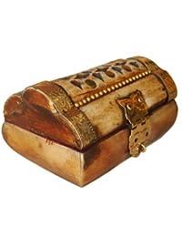 Joyero de Bone, rectangular, mediano/grande, 7.5 x 5 x 4 cm