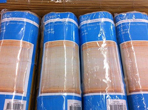 Bambusrollo in Farbe bambus natur mit Schnurzug/Schnurbremse rechts inklusive Montagematerial zum anschrauben