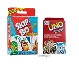 Mattel T1882 Skip-Bo Junior und 52456 UNO Junior Kartenspiel