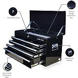 US PRO herramientas caja de herramientas herramienta de funda para portátil con 6cajones Armario de herramientas brillante negro Cojinete de bolas deslizante cajones