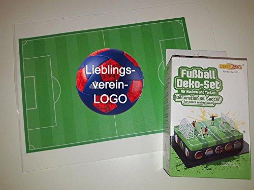 Tortenaufleger DekoSet + Fußballfeld mit Wunschverein