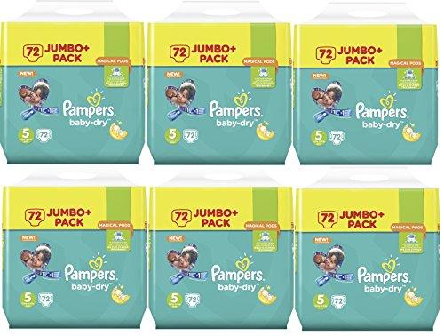 Preisvergleich Produktbild Pampers Baby Dry Größe 5 Junior 11-23kg Jumbo Plus Pack 432 Stück