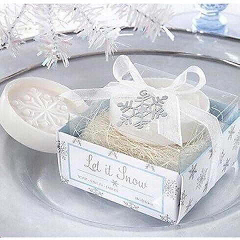 dee jabón de regalos de vacaciones forma de copo de nieve de la Navidad (color al azar)