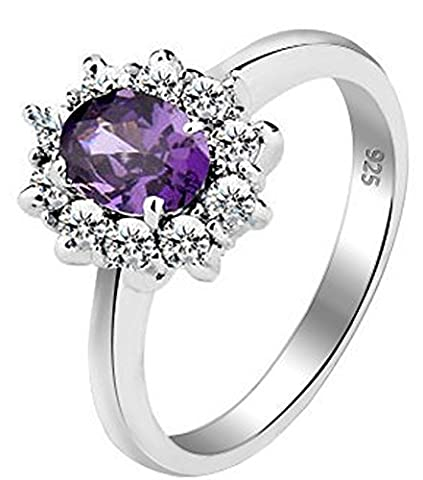 SaySure - 925 Sterling Silver Rings AAA Classic 1 Ct Elegant (SIZE : 6)