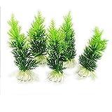 Aquarium Fischbehälter Ornament Kunststoffbaum grüne Wasser Pflanzen 5 Stk DE
