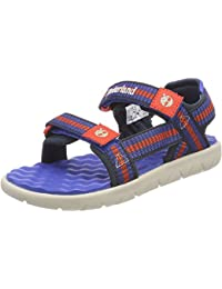 Timberland Perkins Row Webbing Bright Blue Textile Infant Strap Sandals